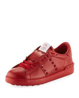 Valentino Rockstud Untitled Men's Leather Low-Top Sneakers
