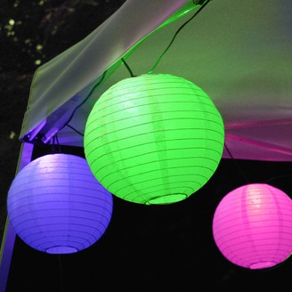Lumabase LumaBase Multi Color Paper Lantern String Lights