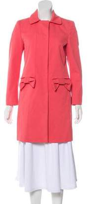 RED Valentino Collared Knee-Length Coat