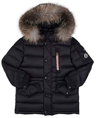 Moncler Kids' Fur-Trimmed Down-Quilted Hooded Parka