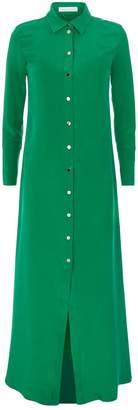 Olivia Von Halle Hero Popper Maxi Nightgown