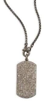 Nina Gilin Diamond Dog Tag Necklace