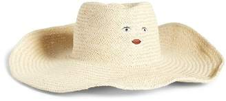 August Hat Large Fantasy Embroidered Straw Fedora
