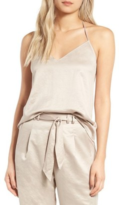 Women's Leith Satin T-Back Camisole $49 thestylecure.com