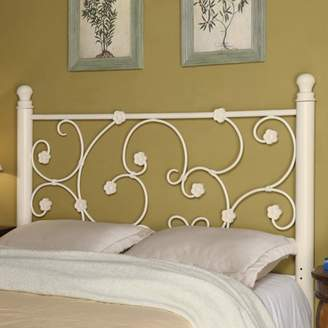 Coaster Company Queen/Full Floral Metal Headboard, White