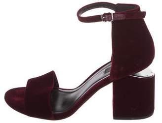 Alexander Wang Abby Velvet Sandals
