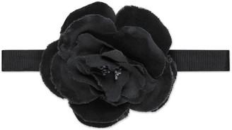 Children's velvet flower neck bow $190 thestylecure.com
