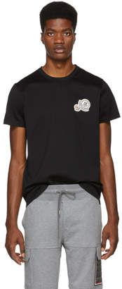 Moncler Black Embroidered Logo T-Shirt