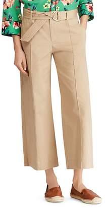 Ralph Lauren Wide-Leg Twill Ankle Pants