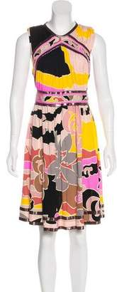 Leonardo Principe Printed Sleeveless Dress