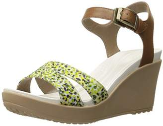 crocs Women's Leigh II Ankle Strap Wedge $32.99 thestylecure.com