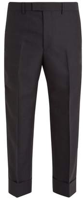 Gucci Contrast Striped Wool Trousers - Mens - Grey