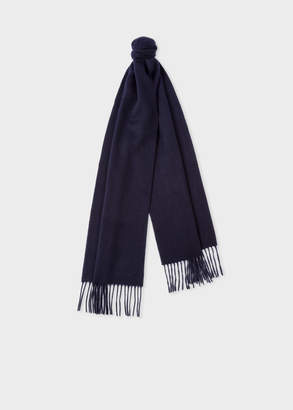 Paul Smith Navy Cashmere Scarf