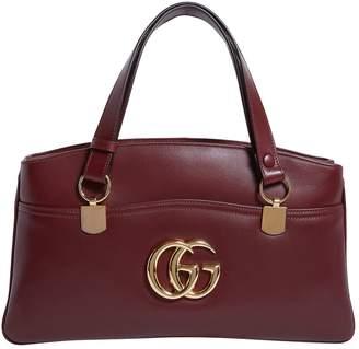 Gucci Large Leather Arli Top Handle Bag