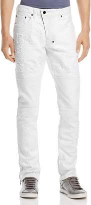 PRPS Goods & Co. Marvel Destroyed Moto Slim Fit Jeans in White
