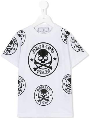 Philipp Plein Junior skull and crossbones T-shirt