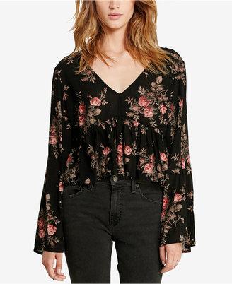 Denim & Supply Ralph Lauren Floral-Print Bell-Sleeve Shirt $98 thestylecure.com
