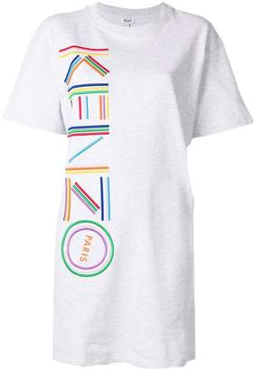 Kenzo logo embroidered T-shirt dress