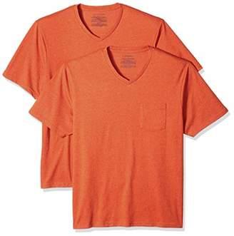 Amazon Essentials Men's 2-Pack Loose-fit V-Neck Pocket T-Shirt