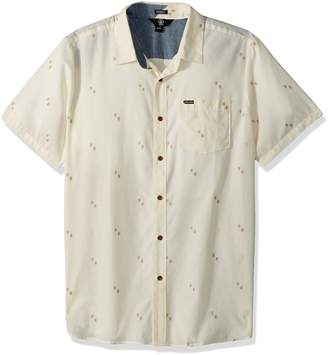 Volcom Men's Floyd Button up Short Sleeve Shirt