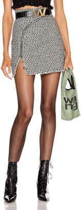 Alexander Wang Tweed Zipper Mini Skirt in Black & White | FWRD