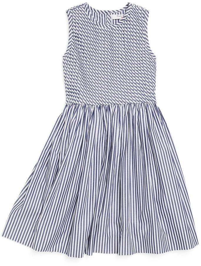 Brooks Brothers Striped Pleated Dress