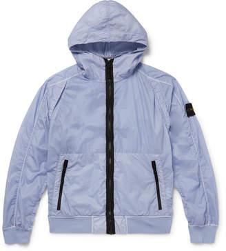 Stone Island Garment-Dyed Shell Hooded Jacket