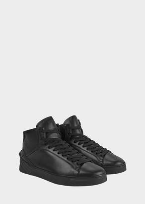 Versace Sculpted Medusa Leather Sneakers