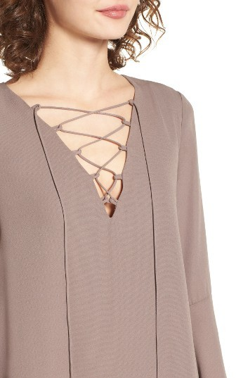 Women's Soprano Lace-Up Shift Dress 4