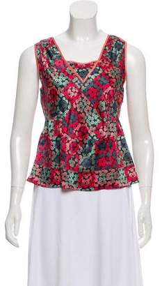 Marc Jacobs Floral Silk Top