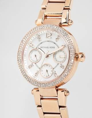 Michael Kors Parker rose gold chronograph watch MK5616