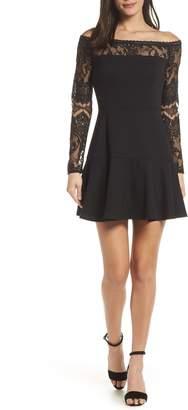 BB Dakota Long Sleeve Off the Shoulder Lace Dress