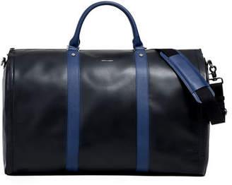 hook + ALBERT Men's Smooth Leather Garment Duffel Bag Carryon Luggage