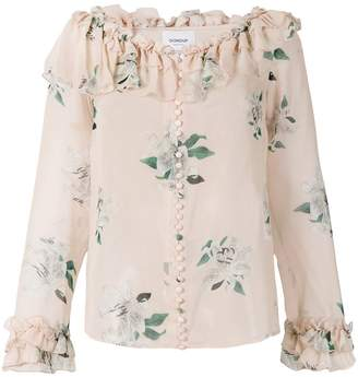 Dondup floral printed ruffle blouse