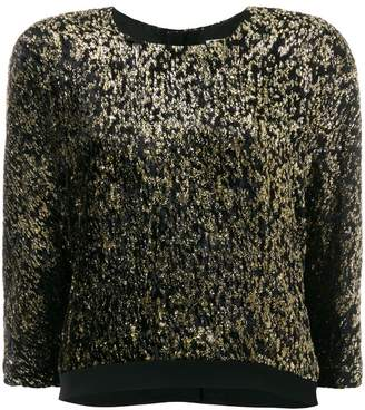 Lanvin metallic cropped jumper