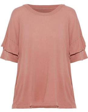 Current/Elliott The Ruffle Roadie Cotton-Jersey T-Shirt