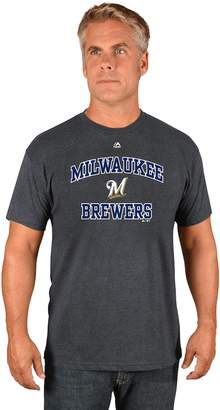 Majestic Men's Milwaukee Brewers Heart & Soul Tee