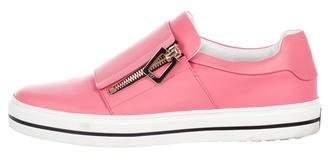 Roger Vivier Leather Slip-On Sneakers