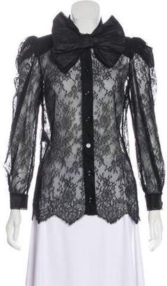 Gucci 2017 Chantilly Lace Top