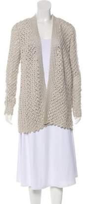 Oscar de la Renta Cashmere & Silk Crocheted Cardigan