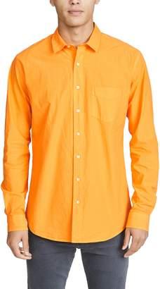 Schnaydermans Schnayderman's Poplin Unbutton Garment Dyed Shirt