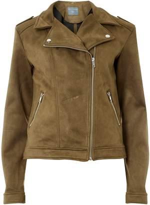 a18ee9b1f24c Dorothy Perkins Womens   Tall Khaki Suede Biker Jacket