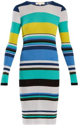 Diane von Furstenberg Striped cotton-blend dress