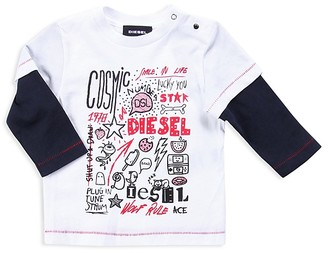 Diesel Infant Boys' Layered Look Collage Print Tee - Sizes 12-24 Months $30 thestylecure.com