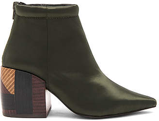 Jeffrey Campbell x REVOLVE Truly Bootie in Olive $135 thestylecure.com