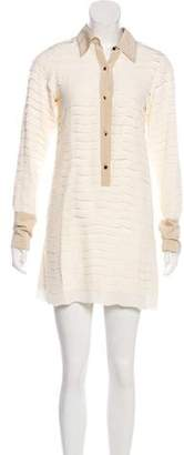 Fendi Long Sleeve Shirt Dress