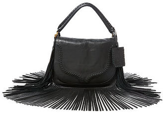 Polo Ralph Lauren Fringed Leather Saddle Bag $628 thestylecure.com