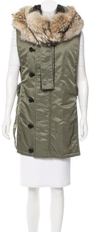 3.1 Phillip Lim 3.1 Phillip Lim Hooded Fur-Trimmed Vest