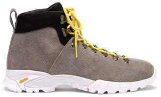 Diemme Maser Suede Lace Up Ankle Boots - Mens - Grey