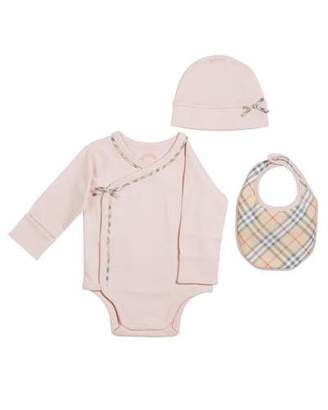 Burberry Kallie 3-Piece Layette Set, Size 1-6 Months